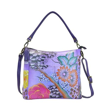 - Women's ANNA by Anuschka Hand Painted Leather Convertible Shoulder Bag 8188  12.5