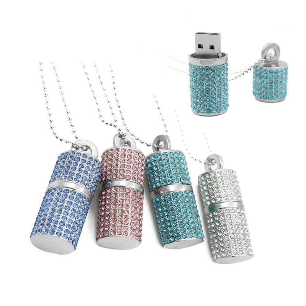 ON SALE - 8G Crystal Encrusted USB Flash Drive Memory Stick Clear