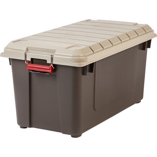 IRIS USA, Inc. 21.8 Gallon Weathertight Heavy Duty Storage Tote (Set of 4)
