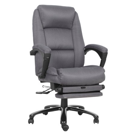 Flash Furniture High Back Fabric Executive Office Chair with Comfort Coil Seat Springs and Padded Armrests