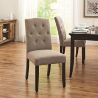 Better Homes and Gardens Parsons Upholstered Tufted Dining Chair,Taupe