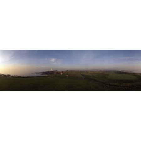 Turnberry Golf - Golf course with a lighthouse in the background Turnberry South Ayrshire Scotland Canvas Art - Panoramic Images (15 x 5)
