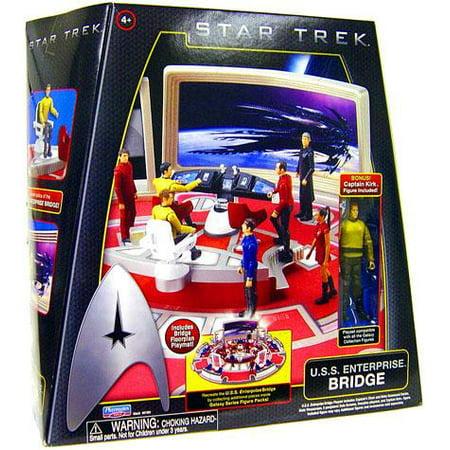 Star Trek - Enterprise Bridge Playset with - Star Trek Collectible Plates