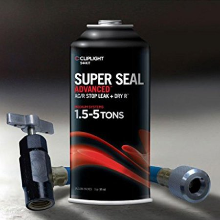 Seal System (Cliplight Super Seal Advanced 944KIT - Permanently Seals & Prevents Leaks in A/C & Refrigeration Systems - 1.5-5)