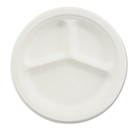chinet classic 3 compartment 10 1 4 inch paper plates 500ct