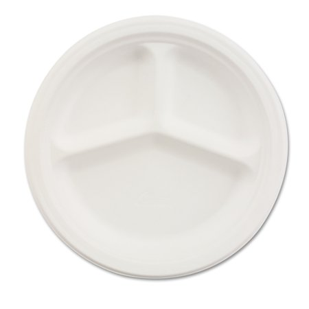 Chinet Classic 3-Compartment 10-1/4 Inch Paper Plates, 500ct