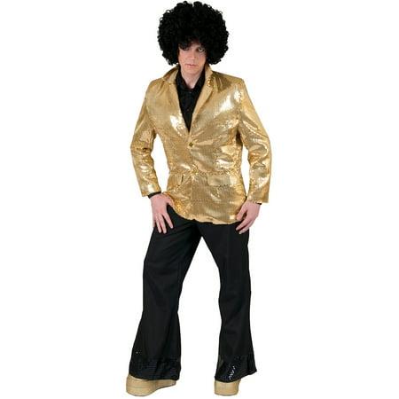 Gold Disco Jacket Adult Halloween Costume