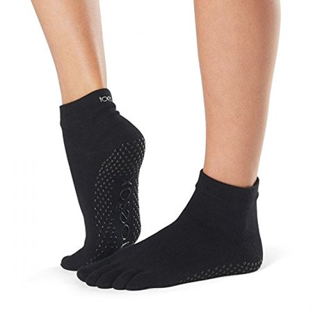 ToeSox Yoga-Pilates Toe Socks with Grips,Black,Large - image 1 of 1