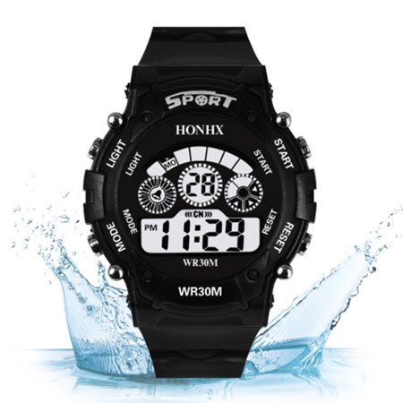 Children Digital Watch Waterproof Outdoor LED Luxury Alarm Date Sports Students Automatic Mechanical Gift Multifunction