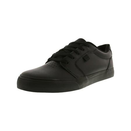 Dc Men's Anvil Se Black / Ankle-High Leather Skateboarding Shoe - 11M ()