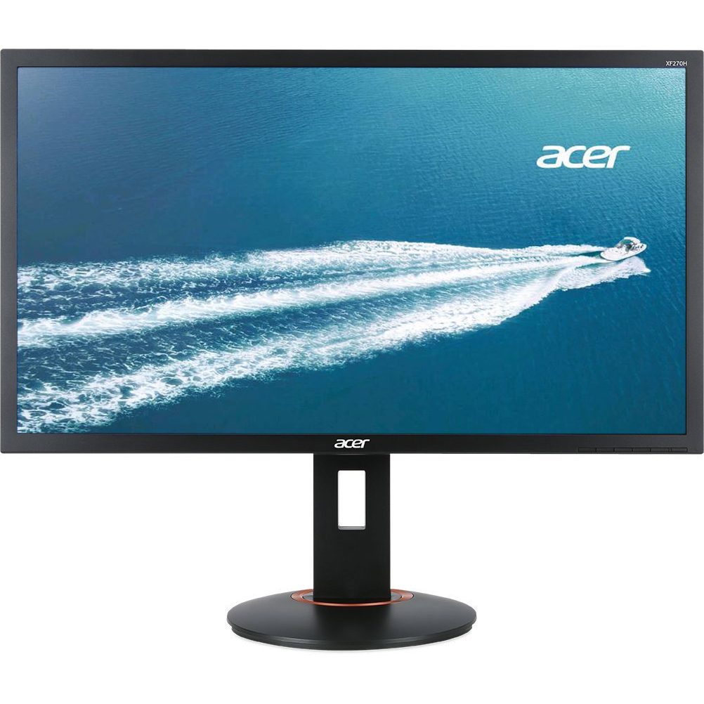 """Acer 27"""" Widescreen LED Monitor FHD Free Sync 144Hz 1ms   XF270H Bbmiiprzx   Manufacturer Refurbished"""