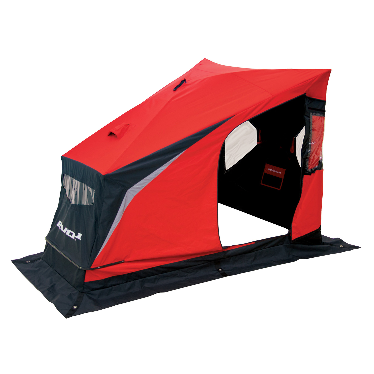 Eskimo 22100 Evo1 Portable Flip Style Ice Shelter with Pop Up Hub Sides, 1-Person by Ardisam, Inc.