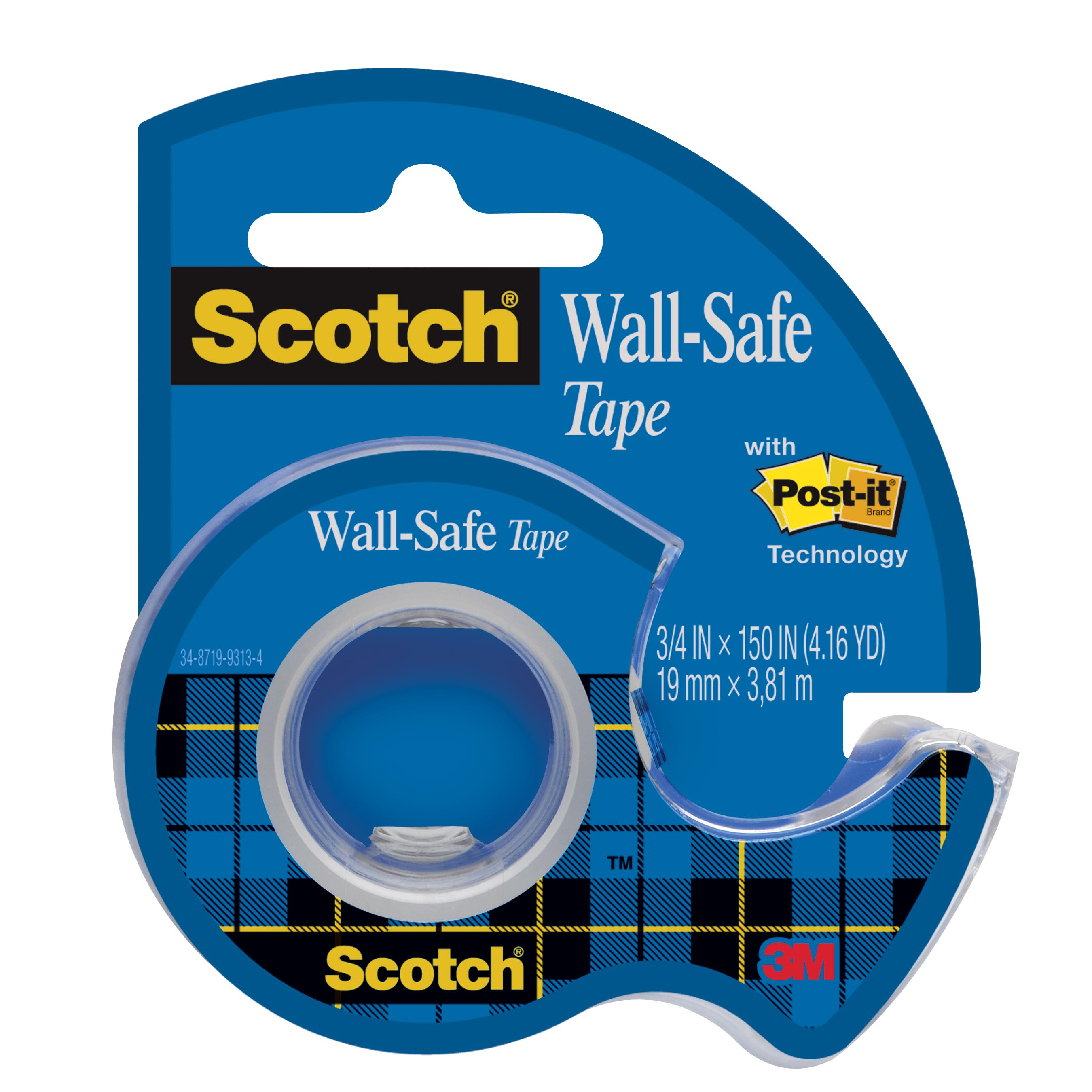 Scotch(r) Wall-safe Tape 500 In