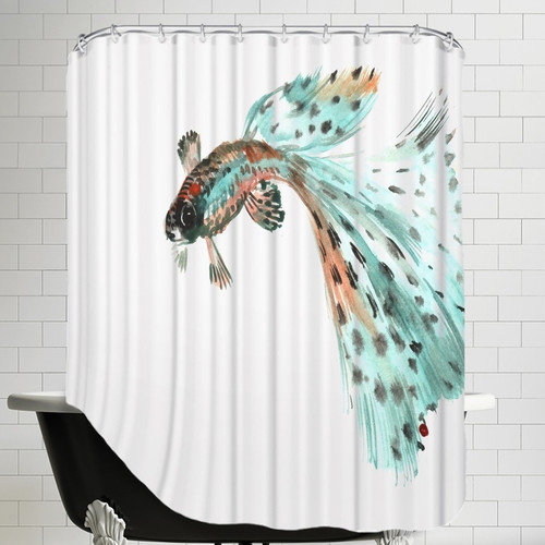 Americanflat Guppy Fish 2 Shower Curtain