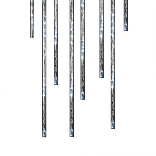 Kurt Adler 144 Light Warm White LED Meteor Shower Christmas Light Sticks Indoor-Outdoor