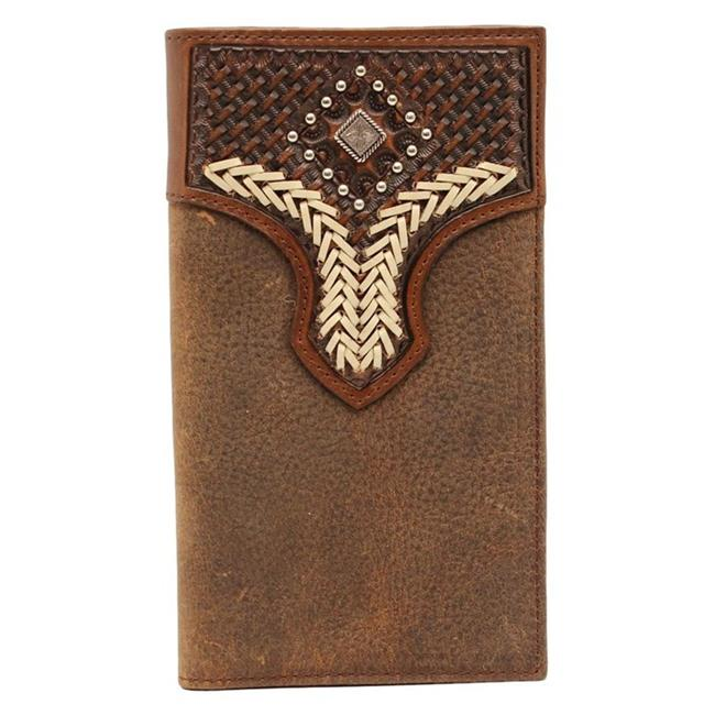 Aged Basket Whip Rodeo Wallet, Medium Brown - One Size - image 1 of 1