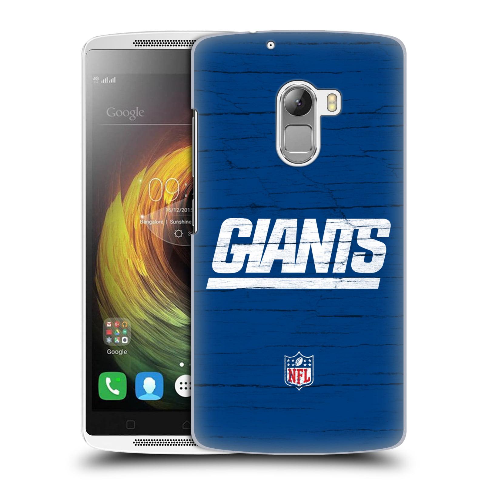 OFFICIAL NFL NEW YORK GIANTS LOGO HARD BACK CASE FOR LENOVO PHONES