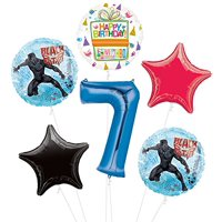 Black Panther 7th Birthday Party Supplies Balloon Bouquet Decorations