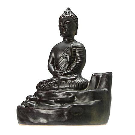 Home Buddha Incense Burner Holder Buddhist Statue Smoke Backflow Cone Censer Gifts - image 5 de 7