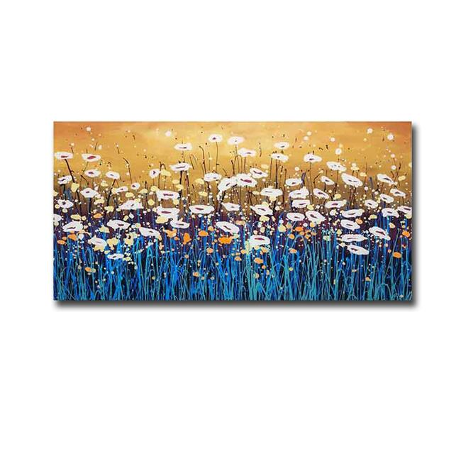 Peace Flower By Daniel Lager Premium Gallery Wrapped Canvas Giclee Art 16 X 32 In Walmart Canada