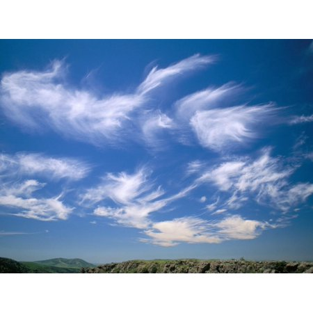 Cirrus Clouds, Tien Shan Mountains, Kazakhstan, Central Asia Print Wall Art By N A Callow](Tien Dbz)