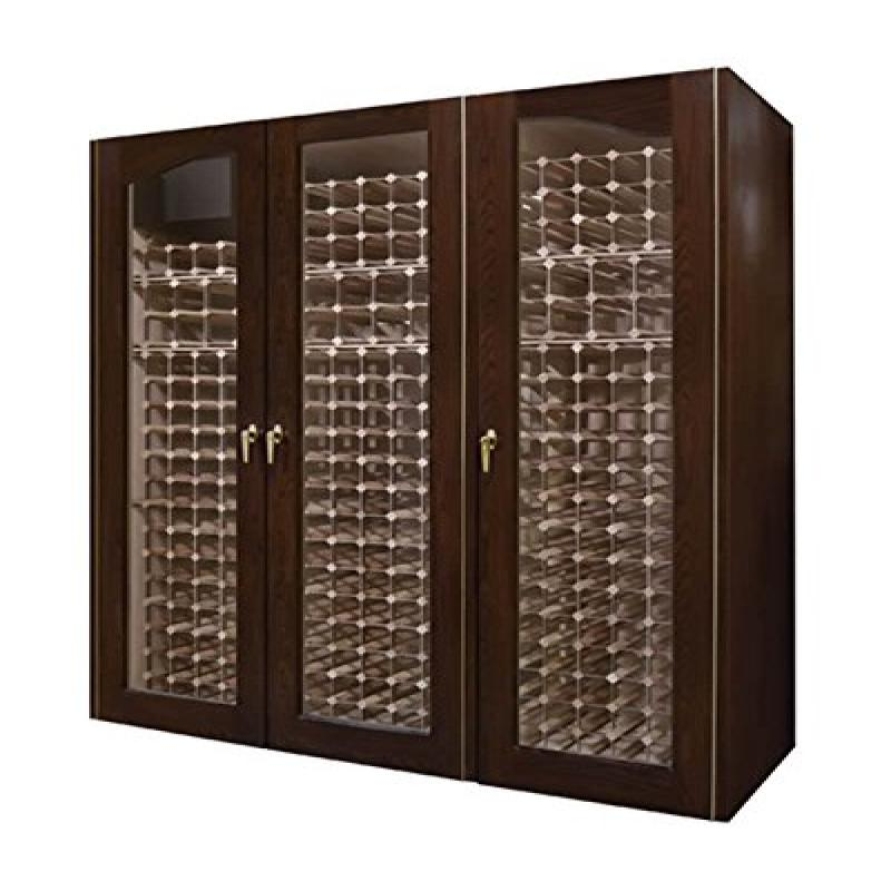 Provincial 900-Model White Oak Wine Cabinet with 3 Glass Doors by Vinotemp