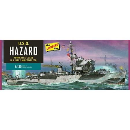 Lindberg 429 1:125 USS Hazard Admirable-Class Navy Mine Sweeper Kit (Fletcher Class Destroyer Model)