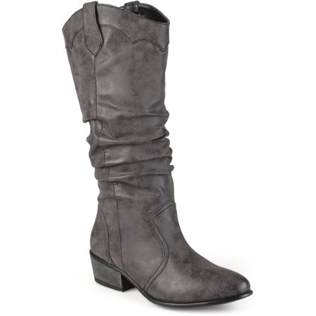 Slouch Riding Boots - Women's Faux Leather Slouch Riding Boots