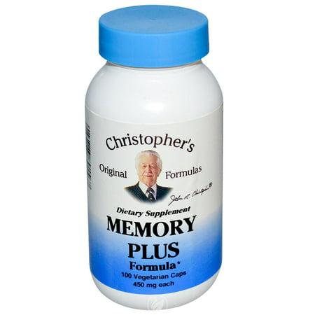 Christopher'S Original Formulas Nourish Memory Plus 100 Capvegi, Pack of -