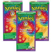(3 Pack) Annie's Organic Mac & Cheese Peace Pasta & Parmesan Mac & Cheese 6 oz