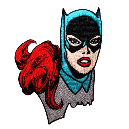 Batgirl Superhero Girl Close-Up Patch Batman Comics Character Iron-On Applique (Batgirl 20)