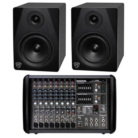 Mackie PPM608 8-Ch 1000w Pro Powered Mixer with 32 Bit FX+(2) Powered Monitors