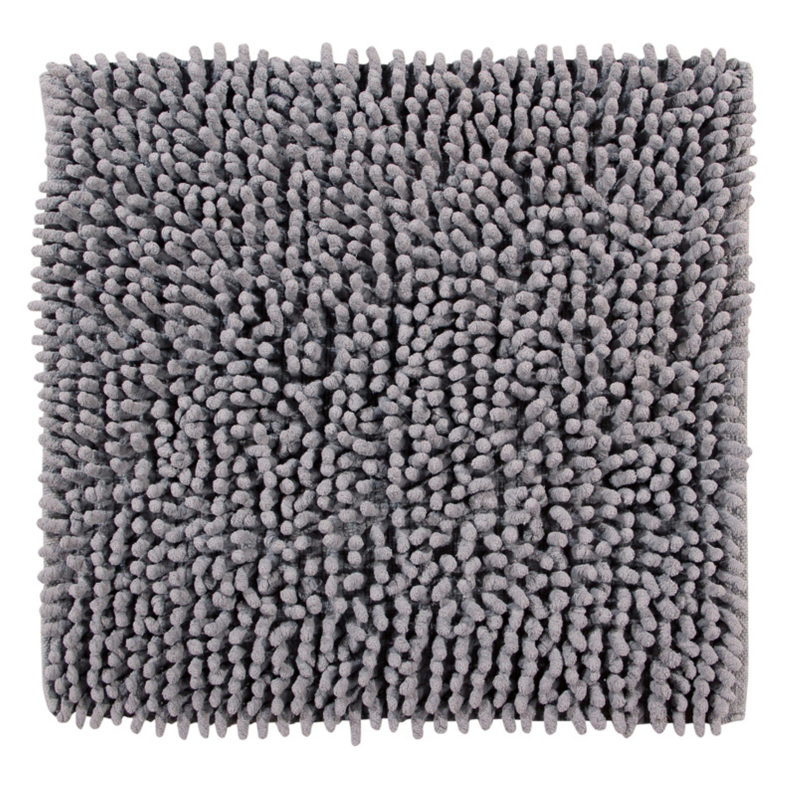 "Loopy Chenille 24"" Square Bath Rug, Grey by Pan Overseas LLC"