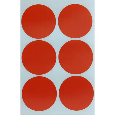 "Royal Green, Colored Dot 2"" inch Orange Sticker, 50mm (two inch) Label Rounds, 540 Pack"