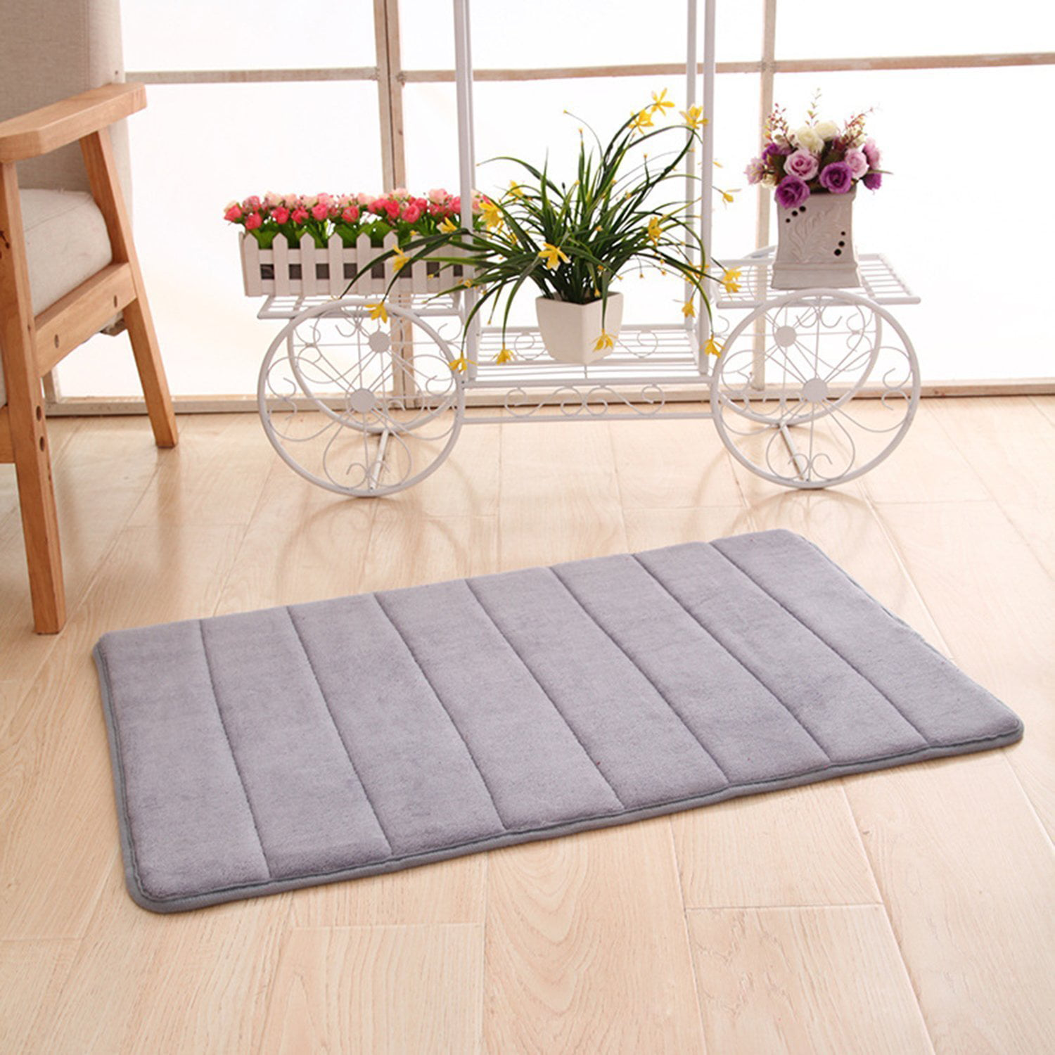 floor doormat memory foam rug kitchen shower non-slip