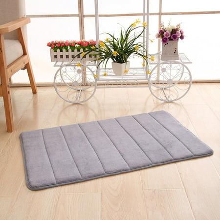 Floor Doormat Memory Foam Rug Kitchen Shower Non-Slip Carpet Modern Mat ()
