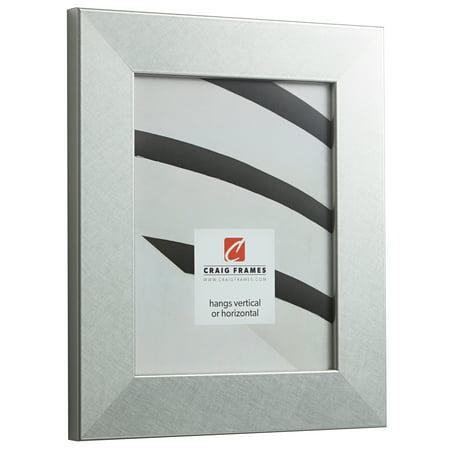 Craig Frames Bauhaus 200, Modern Brushed Silver Picture Frame, 16 x ...