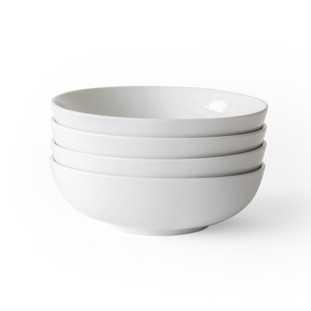 Legacy Pasta Bowl - Better Homes & Gardens Porcelain Round Pasta Bowls, Set of 4