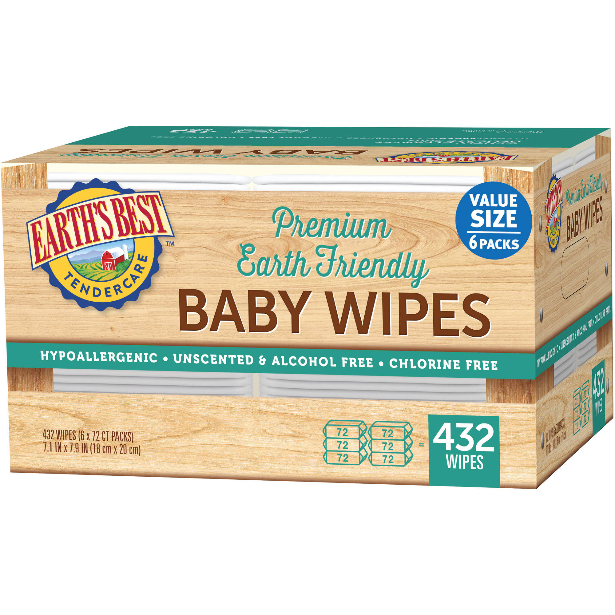 Earth's Best - Wipes Refill, 432 count
