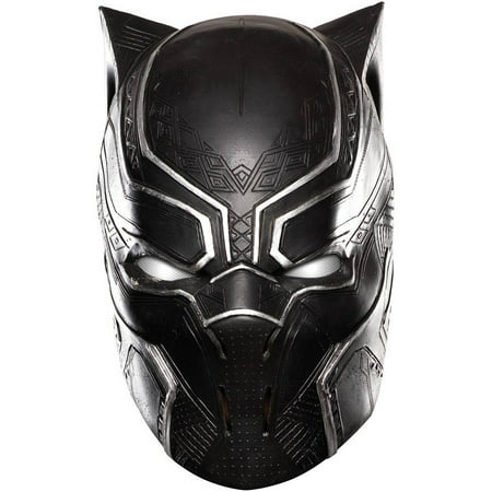 Marvel's Captain America: Civil War Adult Black Panther Full Vinyl Mask, Halloween Accessory - Black Face Halloween Mask