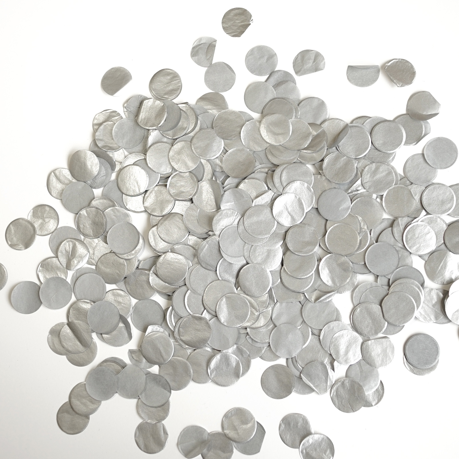 Premium 1-Inch Round Tissue Paper Party Table Confetti - 50 Grams -  Pink, White, Gold Mylar Flakes