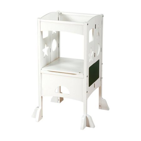 Guidecraft Kitchen Helper Step Stool White