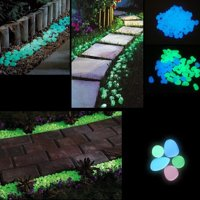 100-Pack Glow in the Dark Garden Pebbles
