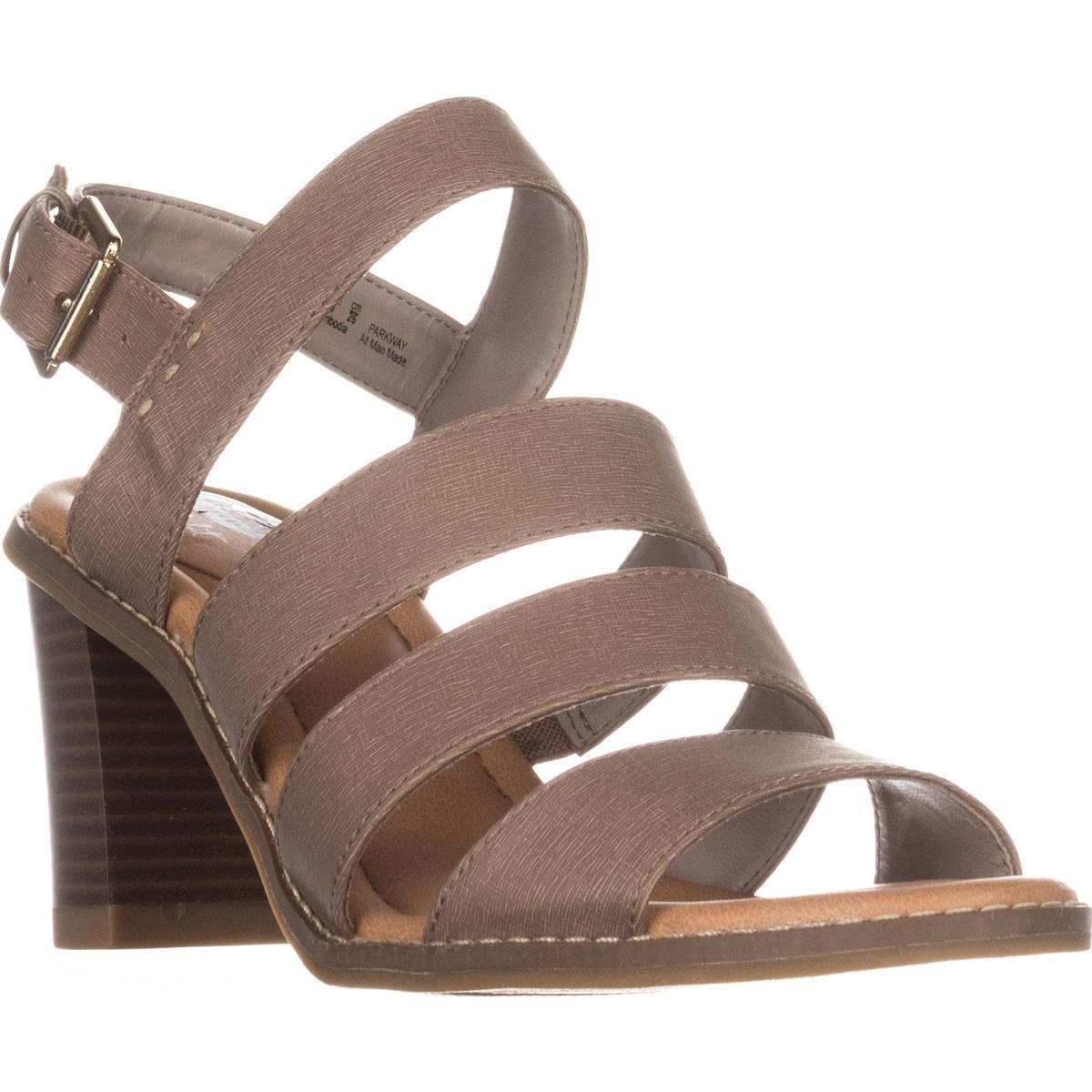 Womens Dr. Scholls Parkway Strappy Comfort Sandals, Taupe, 9 US / 39 EU