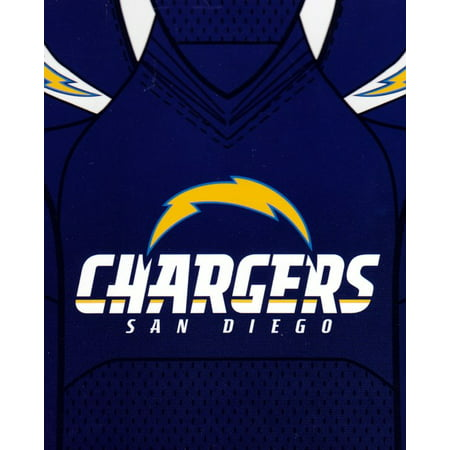 San Diego Chargers 50x60 NFL Jersey Design Royal Plush Raschel Throw ... 9d5d74303