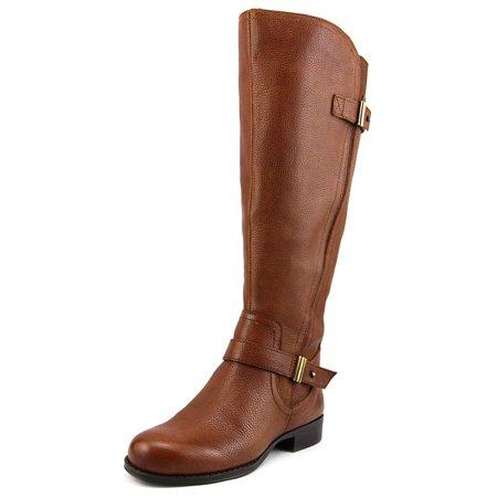 56827dc20 Naturalizer - Naturalizer Joan Wide Calf Women Round Toe Leather Brown Knee  High Boot - Walmart.com
