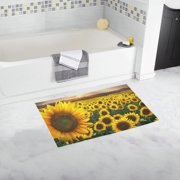 MKHERT Sunflowers Sunset Doormat Non-slip Bath Mat Floor Mat 30x18 inch