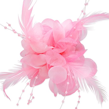 - Expo Int'l Maia Feather Floral Brooch and Hairclip