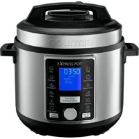 Gourmia 6-Quart Stainless Steel Pressure Cooker with Auto Release