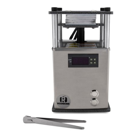 RosinBomb Rocket Electric Rosin Press (Best Rosin Press Plates)